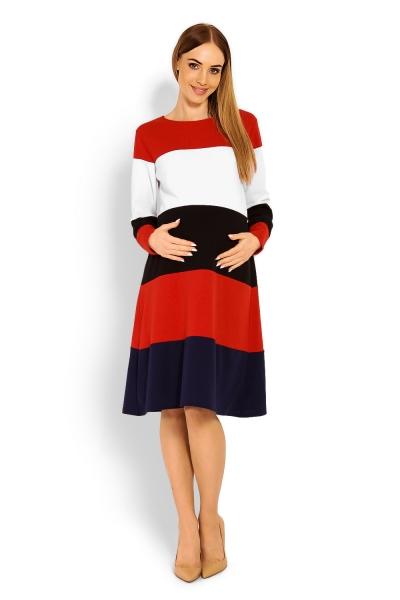 Be MaaMaa Těhotenské šaty dlouhý rukáv, XXL-XXL (44)