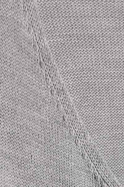 Zavinovací svetrík s vlnou - šedý