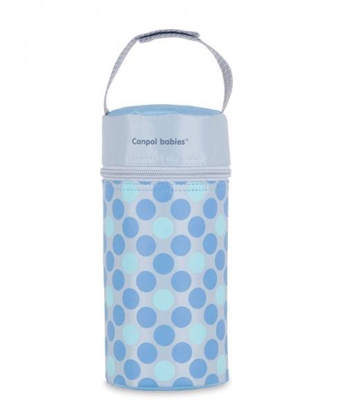 Termobox na dojčenskú fľašu - bodki modré