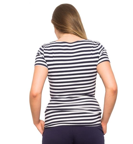 Tehotenské a dojčiace tričko - prúžky