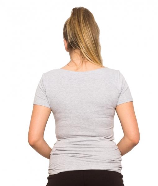 Tehotenské tričko - Mom Live - šedá