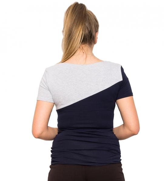 Tehotenské a dojčiace tričko Jane - granát/šedá