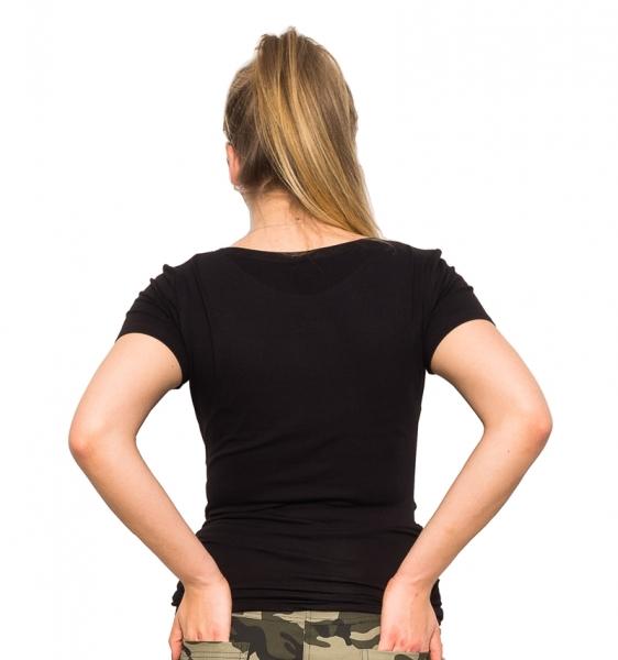 Tehotenské tričko - Mom Live - čierna