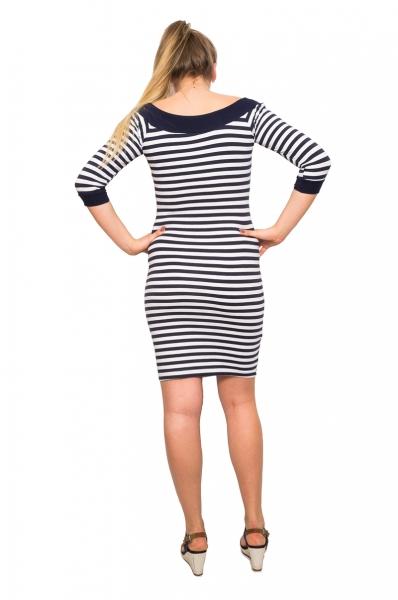 Be MaaMaa Těhotenská šaty Mila - prúžkované,  3/4 rukáv, vel. XL