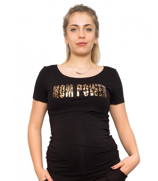 Be MaaMaa Tehotenské a dojčiace triko - Mom Power, vel. S
