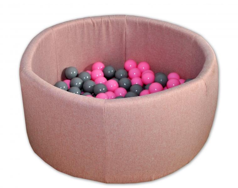 Bazen pre děti 90x40cm + 200 balónků - růžový bazén, balonky dle výběru