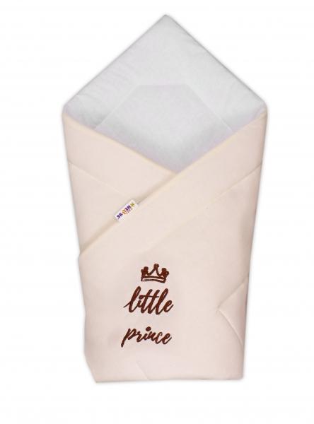 Rýchlozavinovačka Little Prince - jersey - smotanová