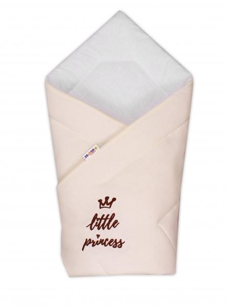 Rýchlozavinovačka Little Princess - jersey - smotanová