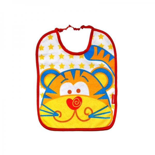 Dvojvrstvový froté podbradník - Tigrík