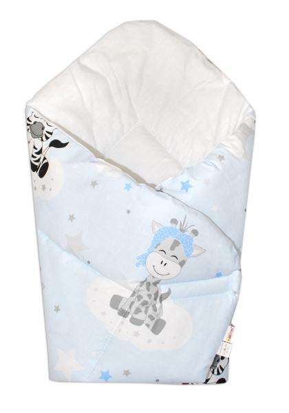Novorodenecká zavinovačka Safari Baby - sv. modrá