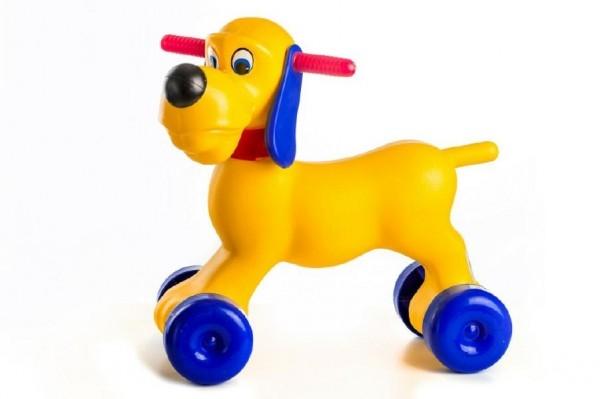 Teddies Odrážadlo pes, plast výška sedadla 26cm nosnosť do 20kg od 18 mesiacov