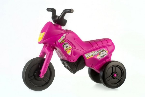 Teddies Odrážadlo Enduro Yupee ružové malé plast výška sedadla 26cm nosnosť do 25kg 12m +