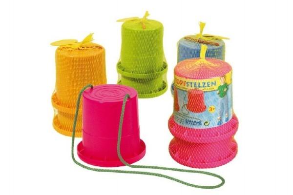 Teddies Chodúle plast asst 4 farby 13x12x11cm v sieťke