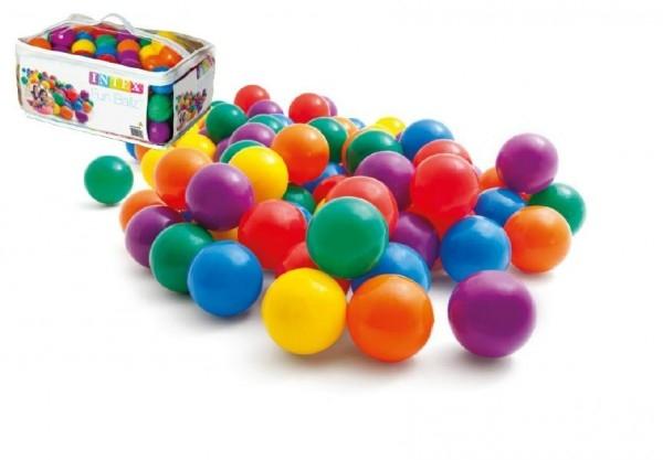 Teddies Loptička/Loptičky do hracích kútov 6,5cm farebný 100ks v plastovej taške 2+