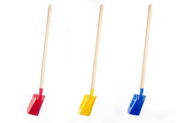 Teddies Lopata s násadou kov/drevo 80cm asst 2 farby náradia