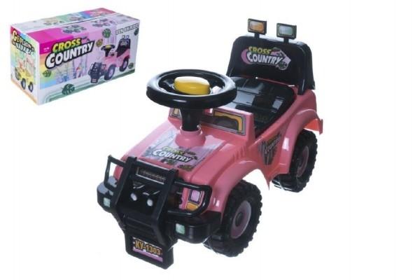 Odrážadlo auto Cross country ružové 53x48x26cm v krabici od 12 do 35 mesiacov
