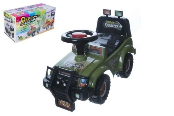 Odrážadlo auto Cross country vojenská khaki zelená 53x48x26cm v krabici od 12 do 35 m