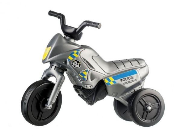 Teddies Odrážadlo Enduro Yupee Polícia malé plast výška sedadla 26cm nosnosť do 25kg 12m +
