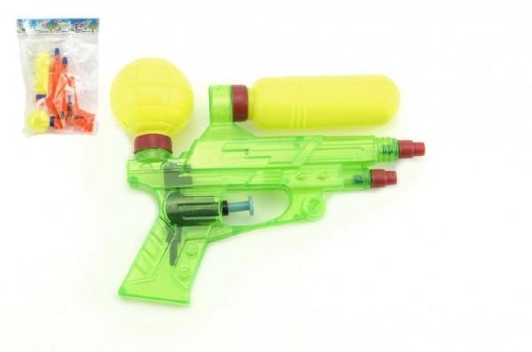 Teddies Vodné pištole plast 16cm asst 2 farby v sáčku