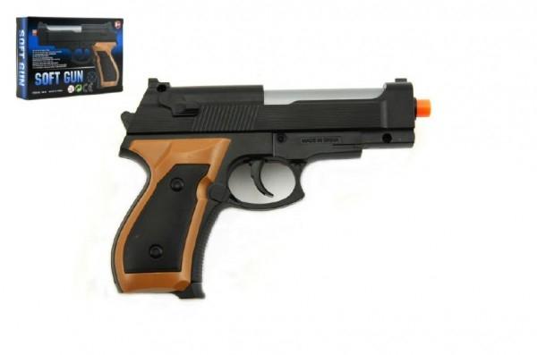 Teddies Pištoľ na guličky 13cm + guličky plast v krabičke 14x10x3cm
