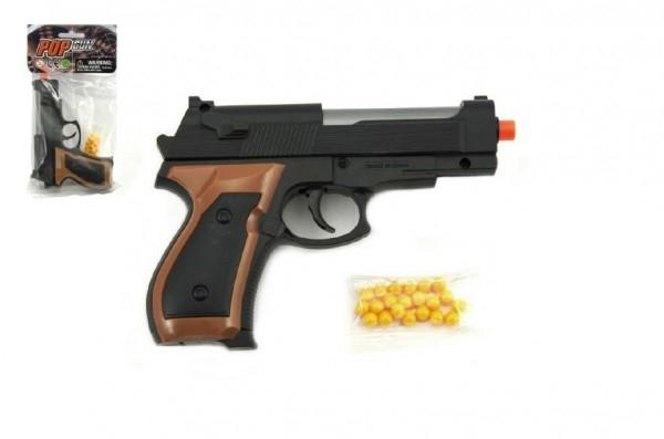 Teddies Pištoľ na guličky 15cm + guličky plast v sáčku