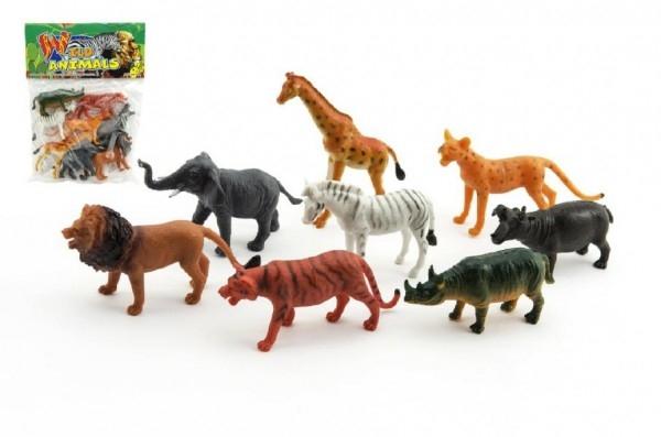 Teddies Zvieratká safari plast 8ks v sáčku 18x24x3cm
