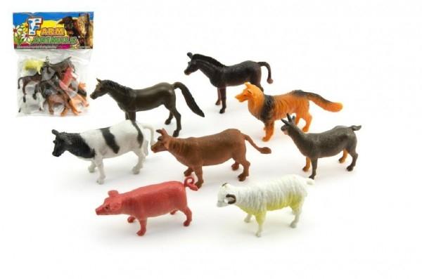 Teddies Zvieratká farma plast 8ks v sáčku 18x24x3cm
