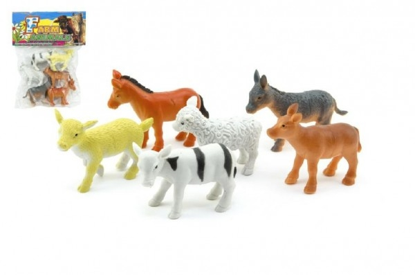 Teddies Zvieratká farma plast 6ks v sáčku 18x23x3cm