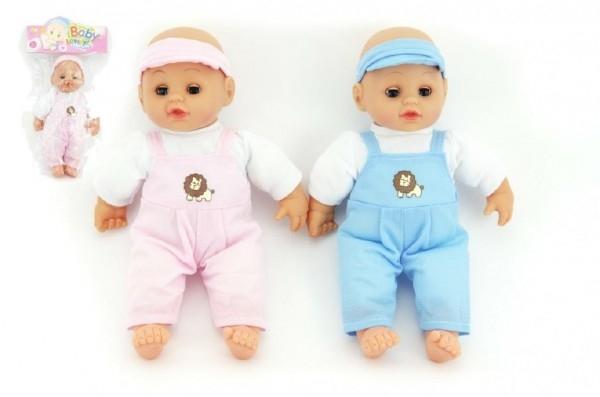 Bábika bábätko mäkké telo 27cm asst 2 farby v sáčku