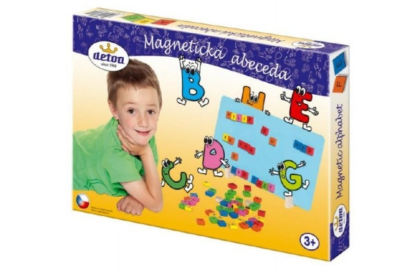 Teddies Magnetická abeceda drevo 75ks v krabici 33x23x3,5cm