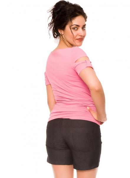 Tehotenské kraťasy Jeans Crush - čierne