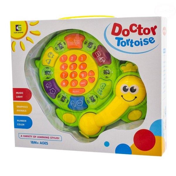 Euro Baby Edukačná hračka Telefón - Želvička - zelená