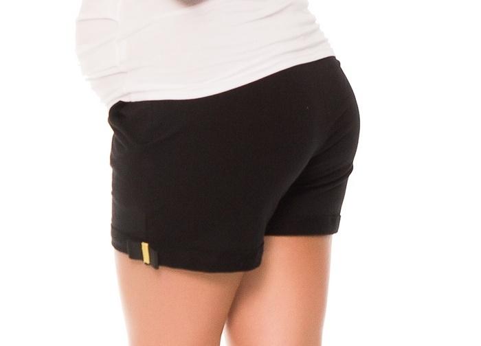 Tehotenské teplákové kraťasy Lydie - čierne