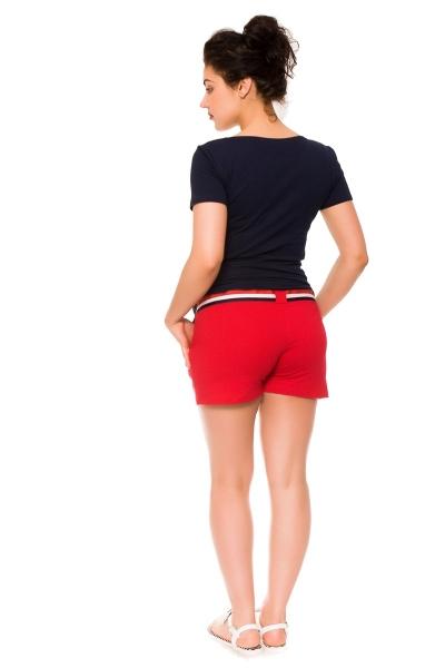 Tehotenské teplákové kraťasy Monika - červené