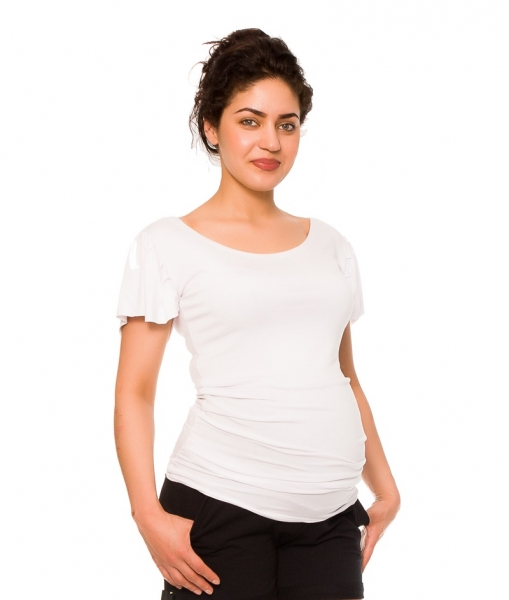 Be MaaMaa Tehotenské tričko/blúzka Lea - biela, vel´. S