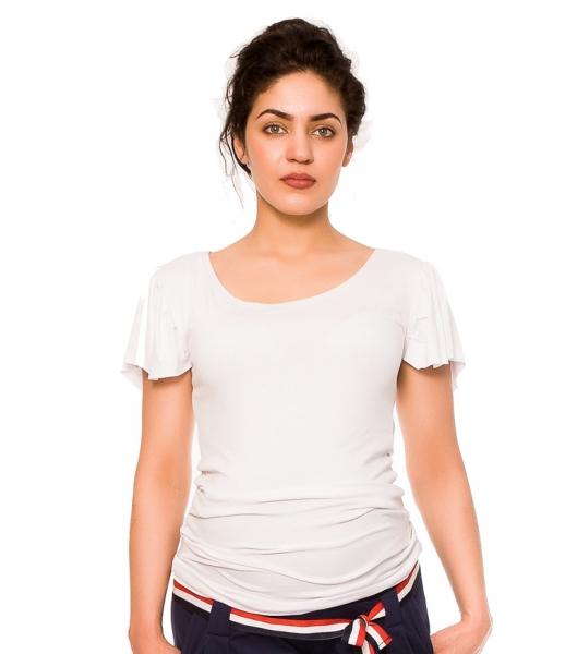 Be MaaMaa Tehotenské tričko/blúzka Lea - biela, vel´. L