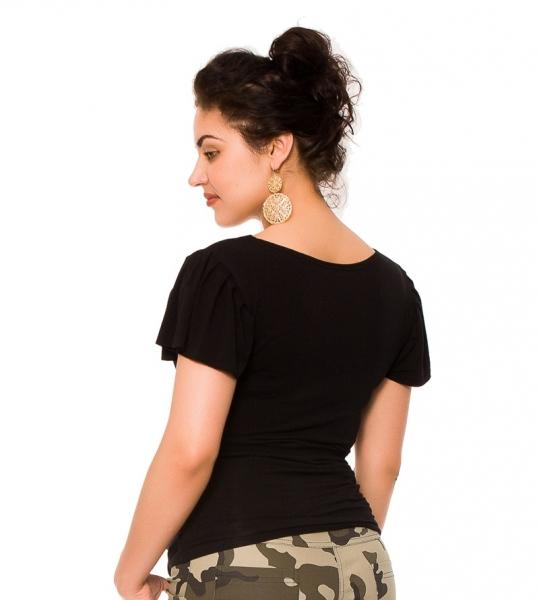 Tehotenské tričko/blúzka Lea - čierna