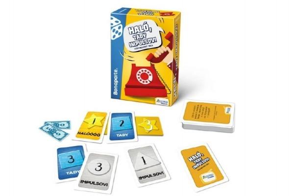 Teddies Haló, tu impulz spoločenská vedomostná hra v krabici 10,5x15,5x4,5cm