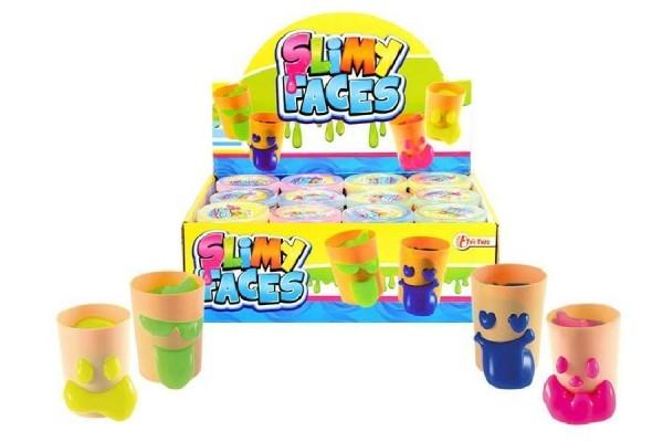 Teddies Sliz - hmota s obličejem tekoucí 7,5x5,5cm asst 4 barvy 12ks v boxu