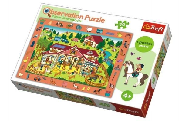 """Teddies Puzzle """"Hľadanie predmetov"""" farma 48x34cm 70dílků v krabici 33x23x6cm"""