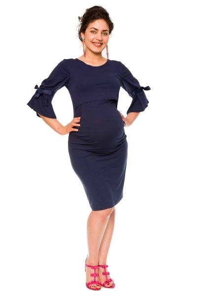 Elegantné tehotenské a dojčiace šaty Barbara - granát
