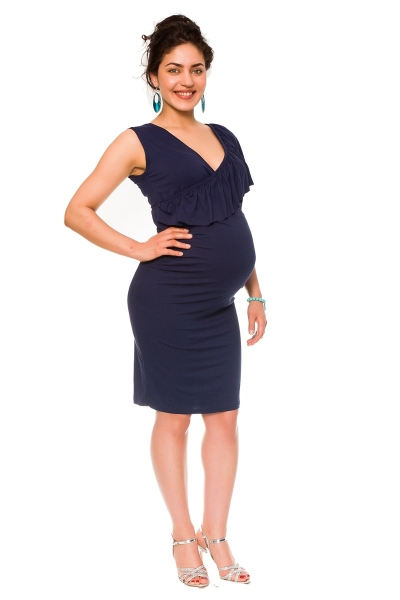 Letné tehotenské a dojčiace šaty Darla - granát