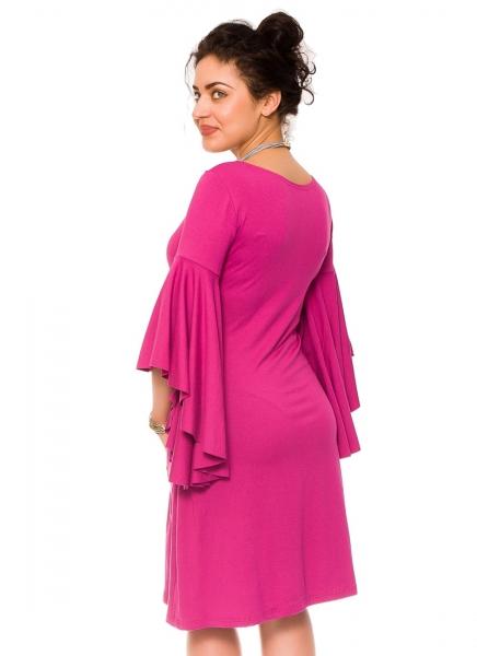 Elegantné voľné tehotenské šaty Kamila - tm. ružová