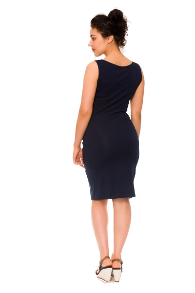 710270b738fa Be MaaMaa 2-dielne tehotenské dojčiace šaty Sia - granát