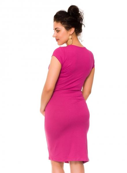 Letné tehotenské/dojčiace šaty Violet - tmavo ružová