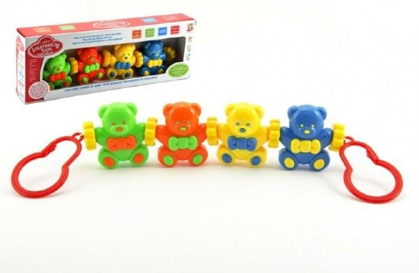 Teddies Reťaz/zábrana Baby medvedíky plast v krabici 33x12x5cm 3m +