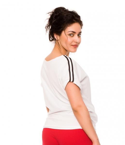 Tehotenské tričko Lia - biele