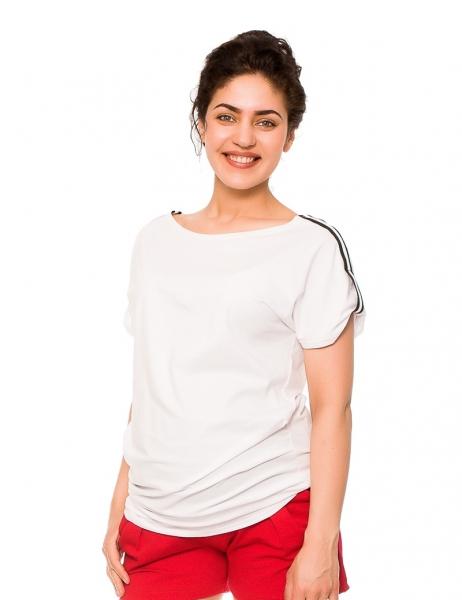 Be MaaMaa Tehotenské tričko Lia - biele, vel´. M
