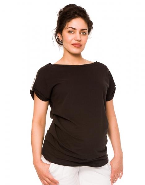 Be MaaMaa Tehotenské tričko Lia - čierne