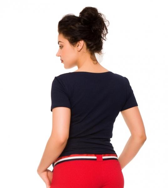 Tehotenské tričko Kotva - granát